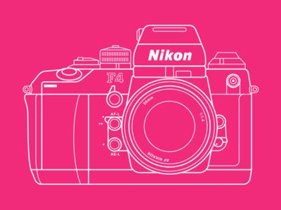Nikon F4 vintage retro lens film nikon camera analog f4 50mm 35mm