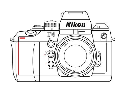 Nikon F4 vintage retro nikon lens film f4 camera analog 50mm 35mm