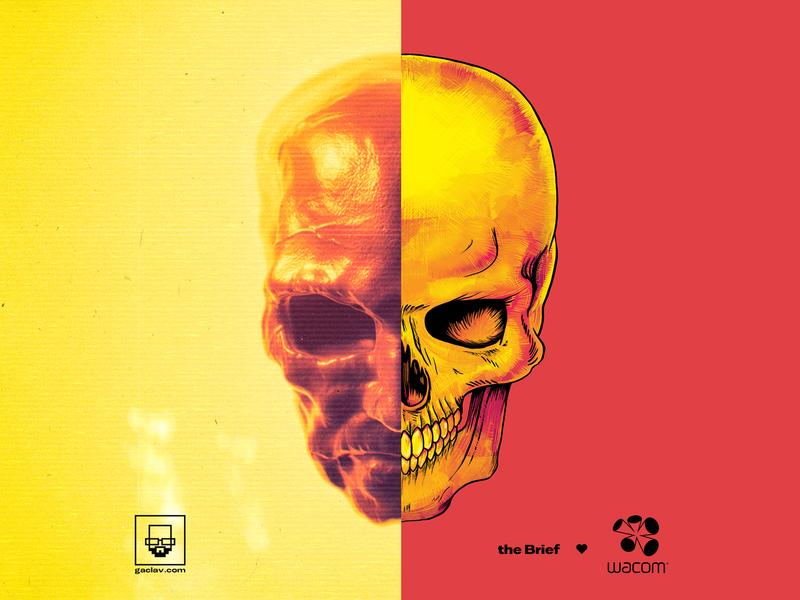 Abyss Skull Dude 💀 zbrush 80s head sculpting abyss lava skull vhs texture render maya illustration glitch cinema4d cgi c4d analog ai 3dsmax 3d