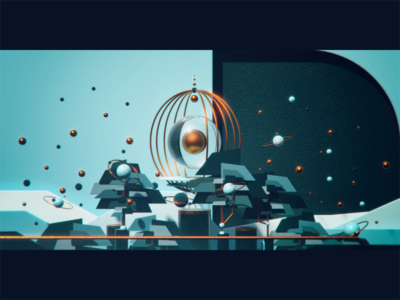 🥚 Eggs at the top space planet blender3d blender winter snow egg switzerland mountain texture render octane maya illustration cinema4d cgi c4d analog 3dsmax 3d
