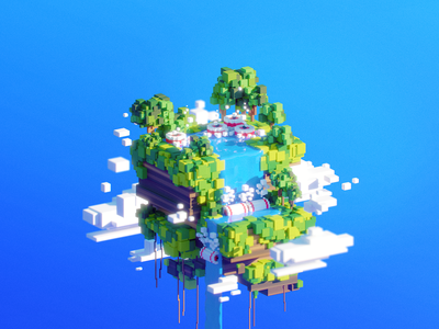 🌍 WORLD 20–50: Hydropower world vhs retro render platform oldschool midday maya mario landscape illustration eco cityscape cinema4d c4d bros blender 90s 3dsmax 3d