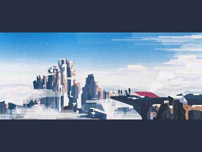 Our K2 ⛰️ illustrator illustration geometric vector flat design digital retro vintage oldschool minimal mountain landscape cold winter snow k2 cloud colors vhs