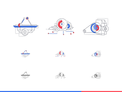 System icons illustrations vector illustration vector art vectorart vectors icon design iconography icon set icons icon ui illustrator illustration geometric vector minimal flat design digital colors