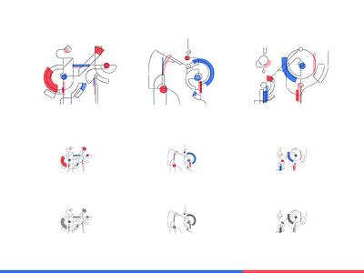 System headers colors design digital flat minimal vector geometric illustration illustrator illustrations illustration art illustrationart illustration design icon icons iconset iconography icon design icon set icons set