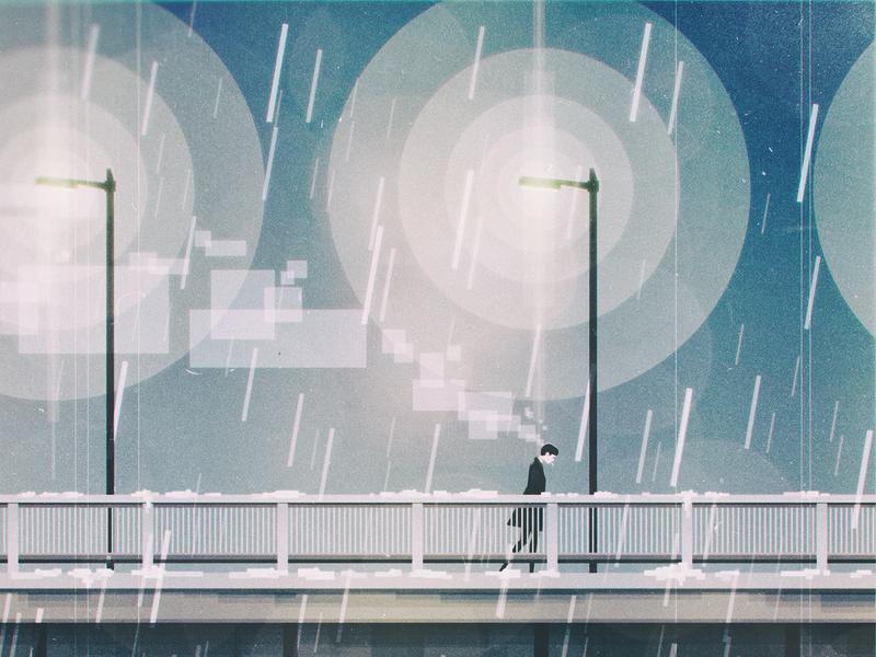 Hulme walk (detail #01) illustration wave vintage vector retro oldschool manchester landscape joy illustrator ian geometric flat division digital design curtis colors cold cityscape