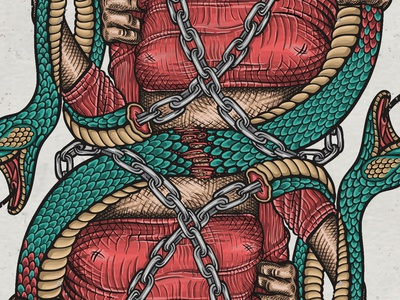 Q of Clubs oldschool outlaw poison chain snake queen fanart movie 90s pokerdeck pokercards playingcards graphic design illustration art graphicdesign design drawing illustrator digitalillustration illustration