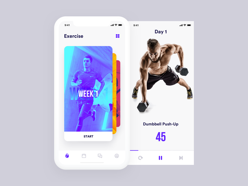 Fitness App exercise workout app fitness app