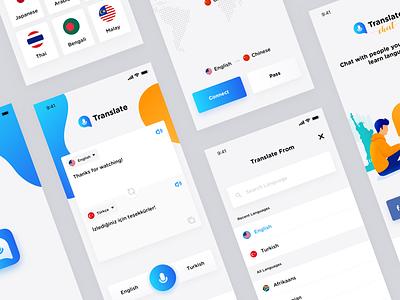 Translation App Design clean app ux design translator design app design ui translate