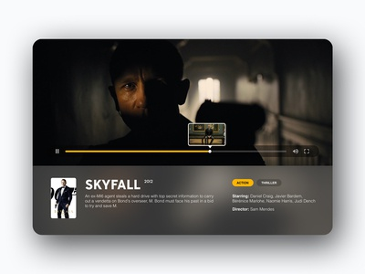 Video Player UI Concept