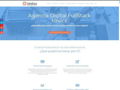 Agencia Digital FullStack Uniics branding ux logo illustration uxdesign logodesign
