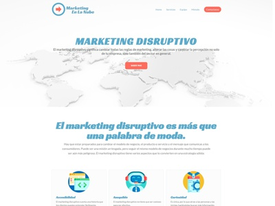 Marketing en la nube icon typography figma logodesign design uxdesign