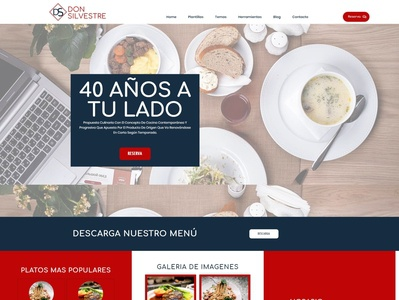 Brand redesign and website of the restaurant Don Silvestre
