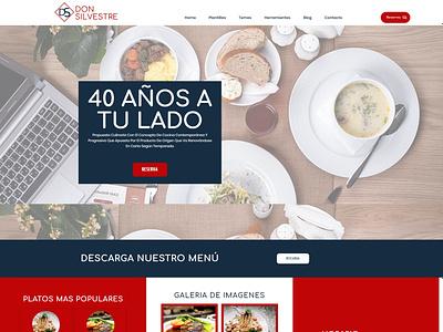 Brand redesign and website of the restaurant Don Silvestre logo typography design branding logodesign