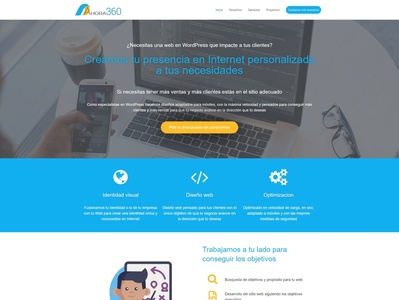 brand design and website for the company ahora360