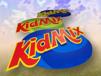 KidMix! logo design sign production graphic design kids design dimensional sign