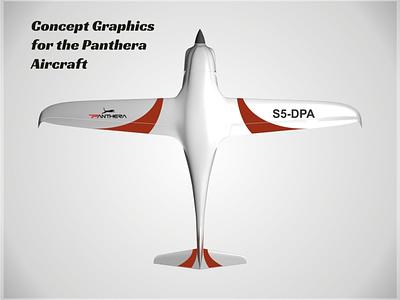 Panthera Concept Art, Bottom applied graphics aircraft vehicle graphics branding graphic design concept art
