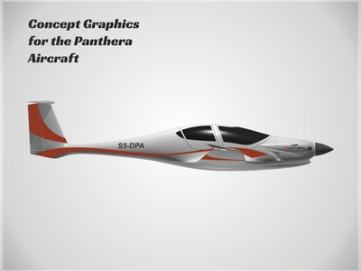 Panthera Concept Art, Side applied graphics aircraft vehicle graphics branding graphic design concept art
