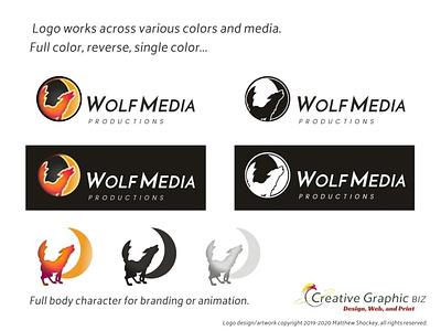 Wolf and Moon Logo - Versatile Logo Qualities mobile mark web design wolf logo moon logo app icon icon logo advertising marketing logo design corporate id concept art branding graphic design