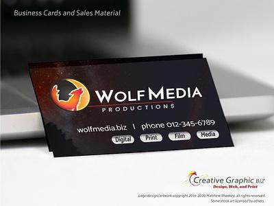 Wolf and Moon Logo - Business Cards design web design moon logo wolf logo icon app icon logo print design advertising marketing logo design corporate id concept art branding graphic design