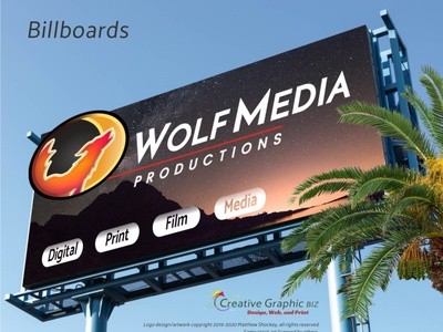 Wolf and Moon Logo - Billboards web design wolf logo moon logo icon app icon logo advertising marketing logo design corporate id concept art branding graphic design