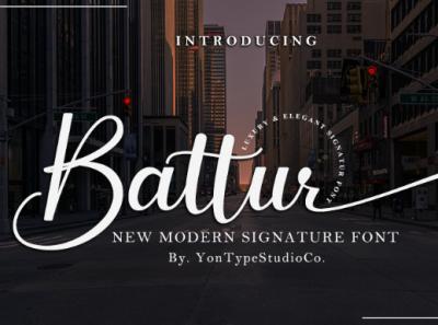 Battur - Modern Signature Font handmade font font design hand lettering script font branding design typography type design font awesome typeface