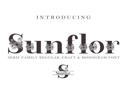 Sunflor-A New Crafter & Monogram Serif Font handmade logo font logotype branding font fontstyle crafter font font awesome typography font design typeface hand lettering branding design