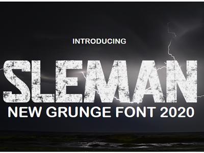 SLEMAN Game Font typography type design handmade font design font awesome typeface textured font grunge font hand lettering graphic design game font branding design