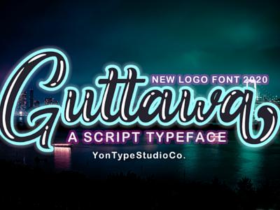 Guttawa | A Logo Typeface Font handmade logotype branding font logo script font type design font design typeface hand lettering branding design