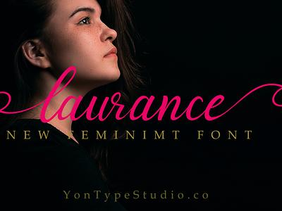 laurance font typeface font awesome typefontdry fontstyle branding design opentype handmade font collection typography typeface hand lettering script font font design font