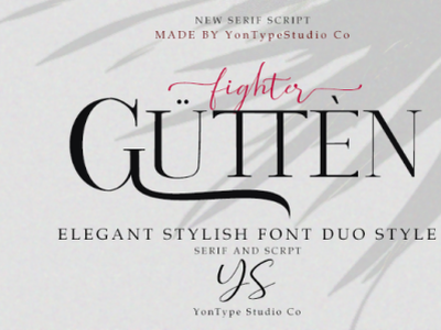 Guttenfighter - FONT DUO font awesome fontstyle typography type design opentype handmade typeface hand lettering font design branding design