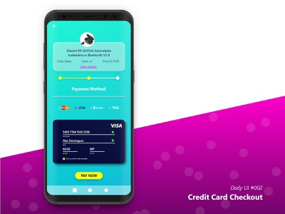 Daily UI 002 - Credit Card Checkout website icon app web design minimal ux ui