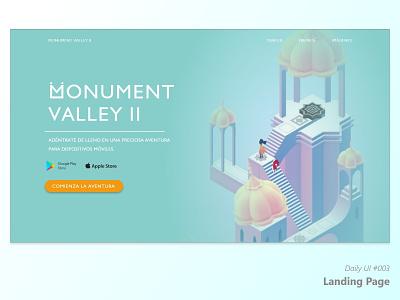 Daily UI #003 - Landing Page website ui ux web flat minimal design
