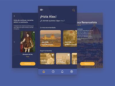 Time Travel UI design flat app ux design ui