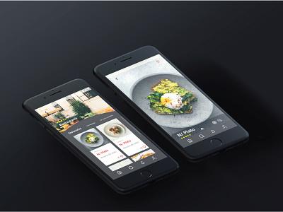 Restaurant App UI design design app ux ui