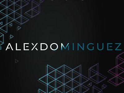 Alex Dominguez Logo type minimal vector flat typography logo design branding