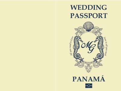 Passport wedding invitacion