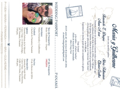 Passport wedding invitation typography illustration branding