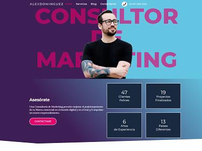 Web Design ui ux web minimal flat design branding