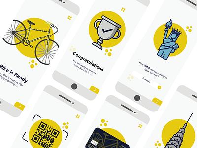 Bike Hire Ui design vector design illustration website flat minimal web app ux ui
