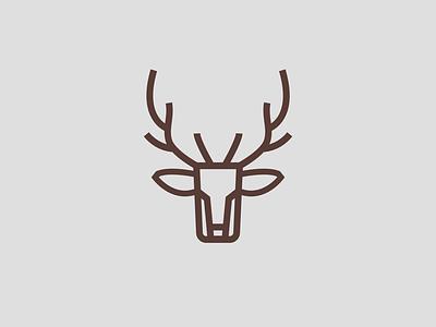 Deer head line logo art vector line logo deer logo design graphic design graphic design logo