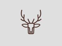 Deer head line logo