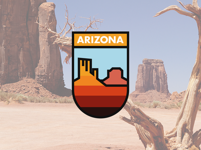 Arizona state badge badge design arizona illustration artwork art vector badge logo
