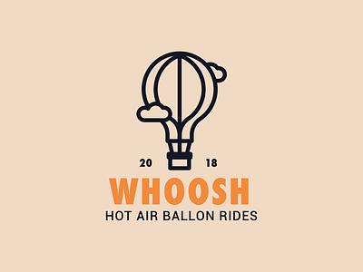 Hot air balloon logo logo design icon outline graphic design graphic illustration design logo