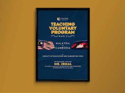 Teaching Voluntary Program Poster