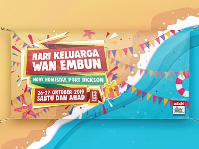 Family Day Sponsorship fun beach family reunion banner design banner adobe photoshop graphic design collateral