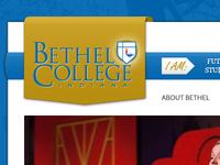 Interim Bethel College site design