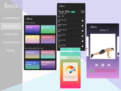 SPREE : FITNESS APP UI
