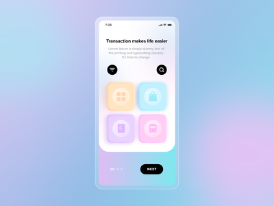 Trasactory UI vector redesign ux trending figma illustration design concept new app ui transaction