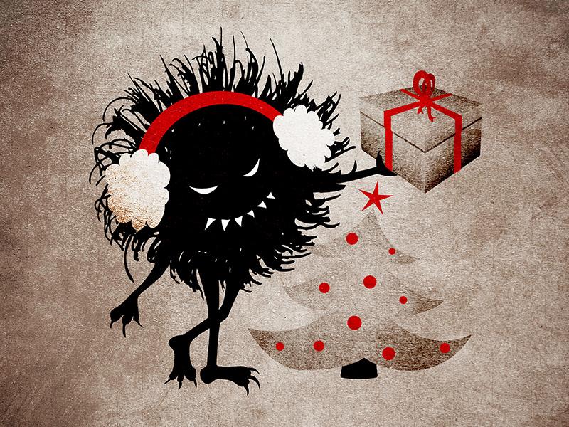 Evil Christmas Characters.Evil Bug Gives Christmas Present By Boriana On Dribbble
