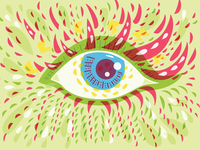Psychedelic Eye Front